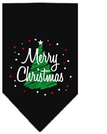 Scribble Merry Christmas Screen Print Bandana Black Small Case Pack 24 Scribb... by DSD