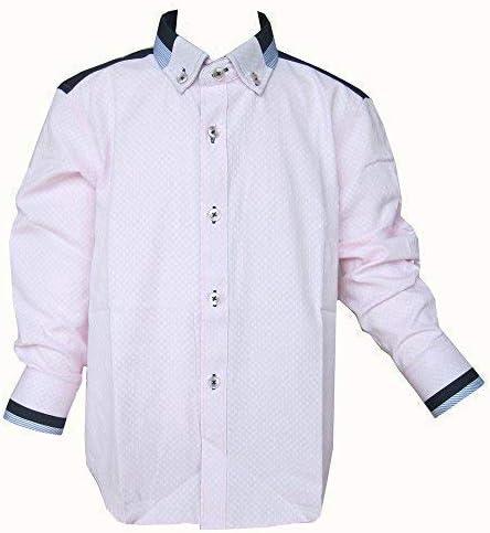 Niños Formal Rosa Camisa Con Manga Larga Cuello Abotonado ...