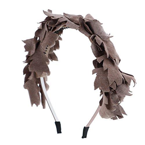 Wool Leaves Headband-Taupe