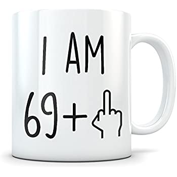 8f4ed2bb Funny 70th Birthday Gift for Women and Men - Turning 70 Years Old Happy Bday  Coffee