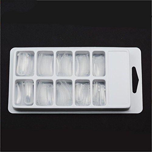 100 Pcs Quick Building Mold Tips Nail Dual Forms Finger Extension Nail Art UV Builder Poly Art Gel Tool Form Clip Finger model