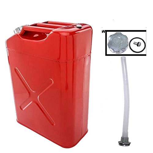 Alightup Portable EU 5 Gal 20L Gasoline Fuel Oil Water Petrol Diesel Storage Emergency Backup Jerry Can Cold-rolled Plate Petrol Diesel Can Gasoline Bucket Red