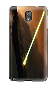 New Girl Costume Lightsaber Clouds Star Wars Mood Tpu Case Cover, Anti-scratch DanRobertse Phone Case For Galaxy Note 3