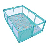 Olpchee Portable Folding Baby Playpen Playard Rectangle Toddlers Play Yard with Door Activity Center Child Play Game Fence