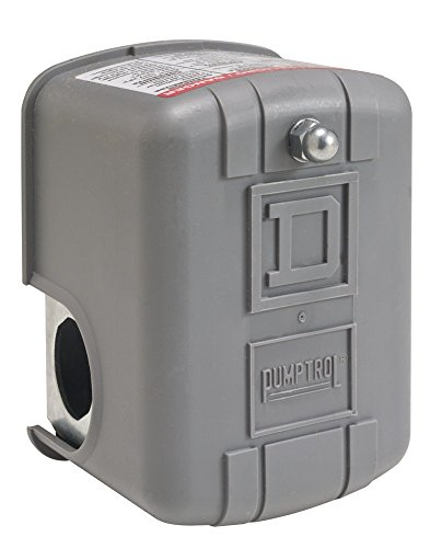 Differential Line (Square D by Schneider 9013FYG2J25PU2 NEMA 1 Air-Pressure Switch, 60-80 psi Pressure Setting, 20-65 psi Cut-Out, 15-30 psi Adjustable Differential, Pulsation Plug, Line/Load-Side Slip-On Connectors)