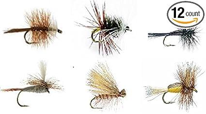 1 Dozen Light Hendrickson Dry Fly Fishing Flies