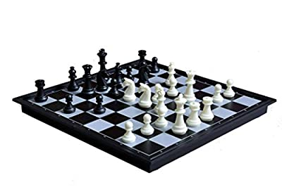 "10"" Magnetic Travel Chess & Checkers Set - by US Chess Federation"