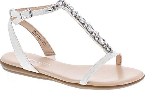 Aerosoles Women's Chlearwater Flat Sandal, White, 10 M (Aerosoles Gladiator Shoes)