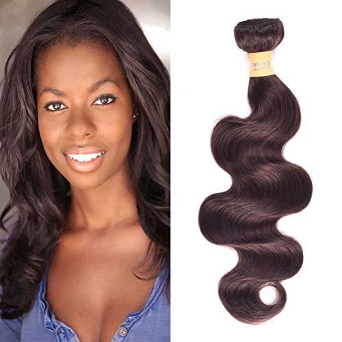 Wome Hair Peruvian Curly Hair Bundles 1 Bundle Dark Brown Body Wave Human Hair Wefts Extensions(14