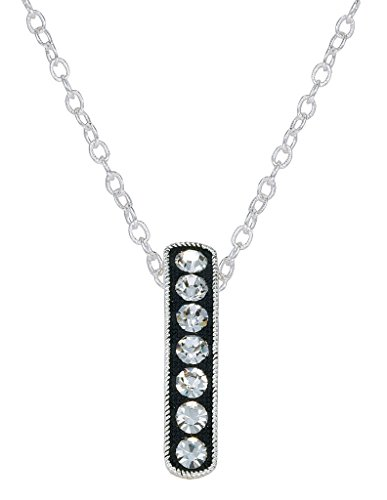 - Montana Silversmiths Crystal Shine Hanging Bar Necklace
