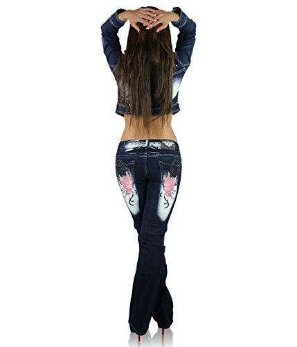 027 para Pink Cut Cb Age Crazy Blue mujer Pantalones Boot Navy Vaqueros wOU1XqPf