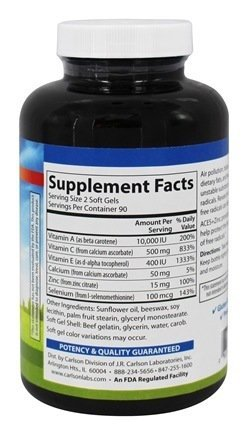 Carlson Labs ACES Zn Antioxidants 180 Softgels Discount