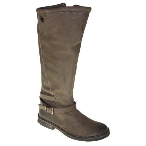 CA'SHOTT Chaussures Femmes - Bottes 10311 - taupe nobuck