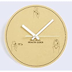 Creative MDF 10 Non-Ticking Wall Clock - Exercise Reminder Dial