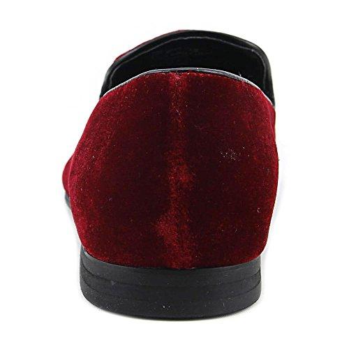 Giorgio Brutini Cowell Mens Instapper Fluweel Jurk Loafers Rood