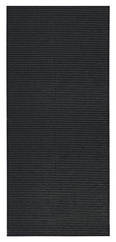 2-feet X 5-feet Foam Rubber Runner Rug | BLACK Solid Design Modern Floor Runner 2X5 (Black Vintage Hardwood Flooring)