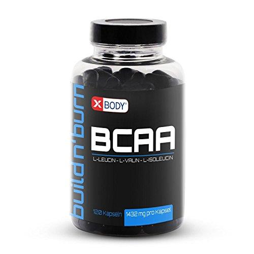 BCAA KAPSELN XBODY L-Leucin L-Valin L-Isoleucin 120 Stück