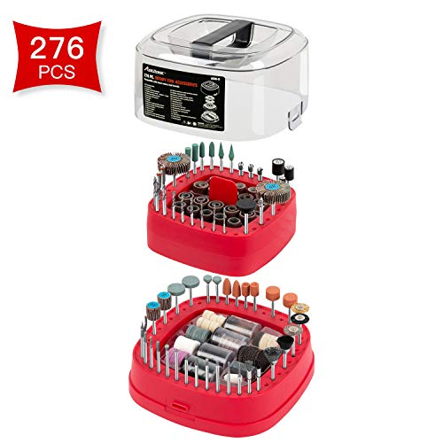 Avid Power 276 PCS Rotary Tool Accessories Kit, Universal Fitment for Easy Cutting, Grinding, Sanding, Sharpening, Carving and Polishing