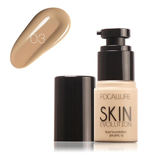 - Creazy Face Foundation Makeup Base Liquid Concealer Moisturizer Oil-control (C)