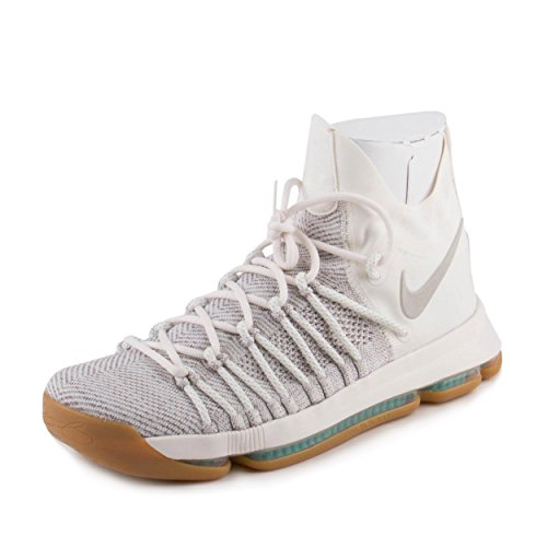 Nike Men's Zoom KD9 Elite Pale Grey/Pale Grey/Ivory Basketball Shoe 8.5 Men US