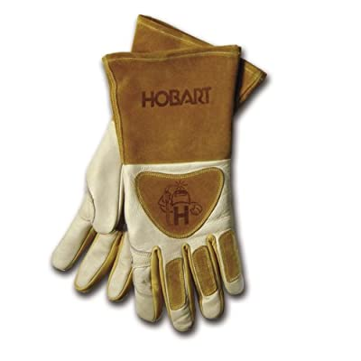 Hobart 770440 Premium Form Fitted Welding Gloves - Welding Safety Gloves - .com