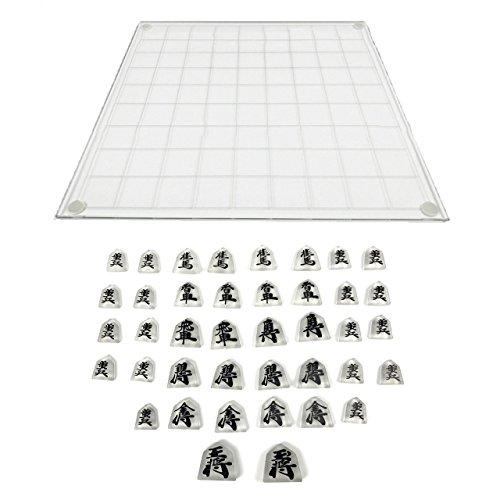Felimoa 将棋セット 将棋盤 こども向け ボードゲーム クリスタル 透明な将棋駒 知育玩具の商品画像
