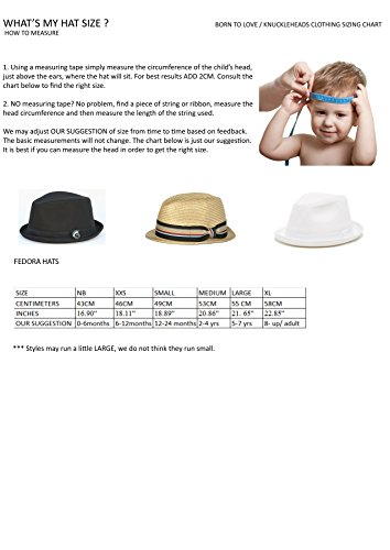 3643619eb83e2 Born To Love Baby Boy s Fedora With Band-Black And Gray-S(12-24 ...