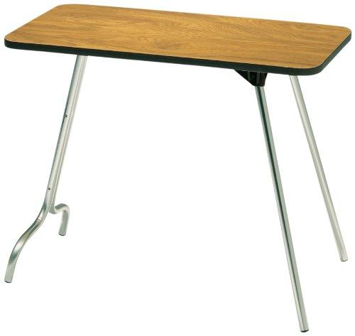 Plastic Walnut Folding Table - Surco 1632W 16