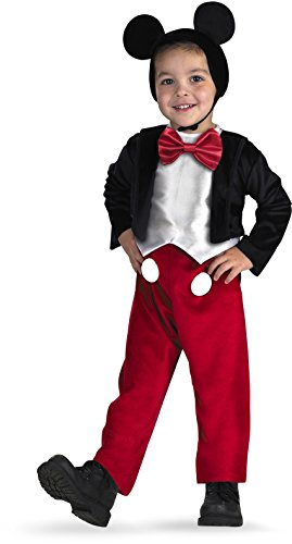 Mickey Mouse Halloween Costume Toddler (Diguise Mickey Mouse Deluxe - Size: 3T-4T)