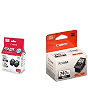 Genuine Canon PG-240XL/CL-241XL HIGH Yield Ink Cartridge Value Pack, Black and Tri-Colour - 5206B020