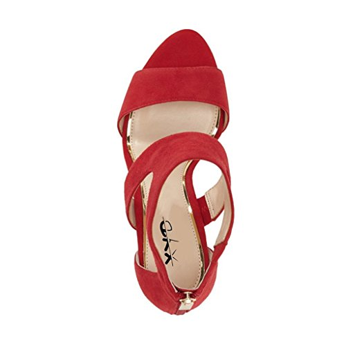 XYD Prom Dancing Shoes Elegant Open Toe Strappy Heeled Sandals Ankle Wrap Dress Pumps for Women Red 2014 unisex online aBDRsTTY