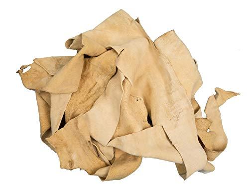 1 Pound of Commercial Brain-Tanned Deer Elk Scrap Remnants (1302-20-SCRAP) K20