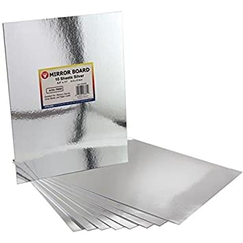 Hygloss Mirror Board, 8.5 by 11-Inch, Silver, 10-Pack 28385
