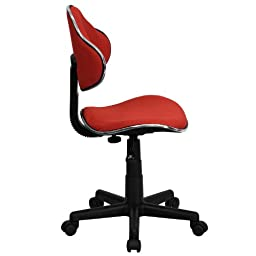 Bright Red Office Chair - \