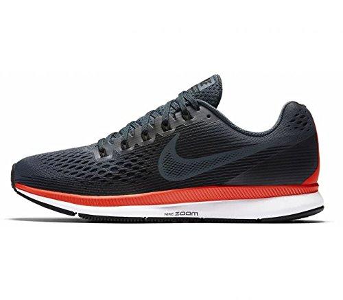 Nike Womens Wmns Air Zoom Pegasus 34, BLUE FOX/BLACK-BRIGHT CRIMSON, 8 US