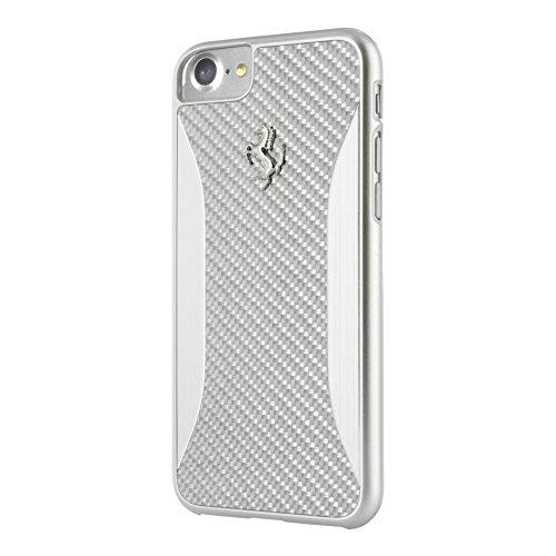 Ferrari GT Carbon Fiber Brushed Aluminium Hard Case for iPhone 7 (Silver)
