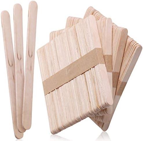 Mr. Pen- Popsicle Stick, Craft Sticks, 4.5 Inch, 200 Pack, Wax Sticks, Popsicle Stick Crafts for Kids, Wood Sticks, Wooden Sticks for Crafts, Sticks for Crafting, Ice Cream Sticks, Wood Craft Sticks