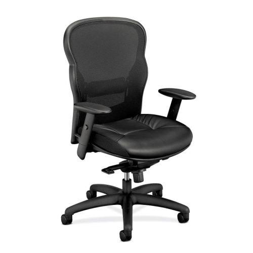Basyx Back Mesh Chair - HON basyx VL701SB11 High-Back Swivel/Tilt Work Chair Mesh/Leather, Black