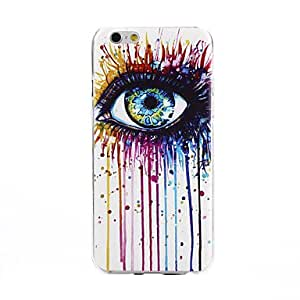 ZL Multicolor Eye Pattern Ultrathin TPU Soft Back Cover Case for iPhone 6