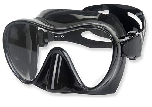 Phantom Aquatics Frameless Mask for Spearfishing, Freediving, Scuba - All Black