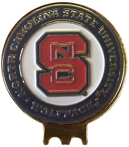 Clip North Carolina State - North Carolina State Wolfpack Golf Ball Marker HAT Clip Great Gift IDEA NC State