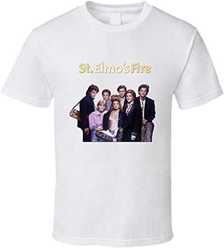St Elmo's Fire Men's Fashion Graphic Short Sleeve T-Shirt XX-Large