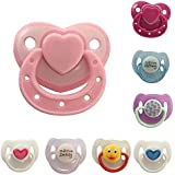 8 Pack Reborn Doll Accessories Magnetic Soother Pacifier for Simulated Lifelike Doll