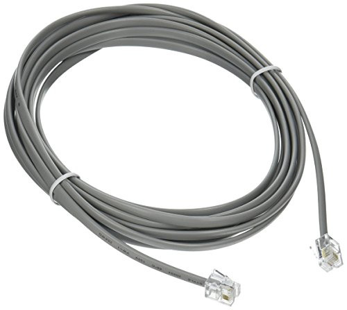 C2G 09591 RJ11 6P4C Straight Modular Cable, Silver (14 Feet, 4.26 Meters) ()