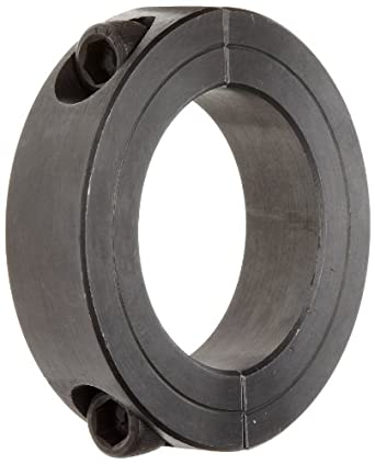 """Climax Metal 2C-187 Two-Piece Clamping Collar, Black Oxide Plating, Steel, 1-7/8"""" Bore, 2-7/8"""" OD, 11/16"""" Width"""
