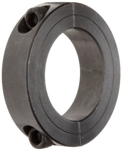5//8 inch X 1//2 inch bore 2 inch Length 1 5//16 inch OD Climax Part ISCC-062-050 Mild Steel Black Oxide Plating Clamping Coupling 10-32 x 1//2 Clamp Screw