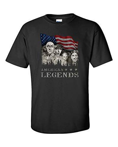 The Three Stooges T-Shirt Rushmorons American Legends-Black-XXXL (Stooge Christmas)