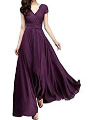 Women Tunic Tops Dresses On Sale Lady Solid Plus Size Short Sleeve Prom Evening Party Long Maxi Dress