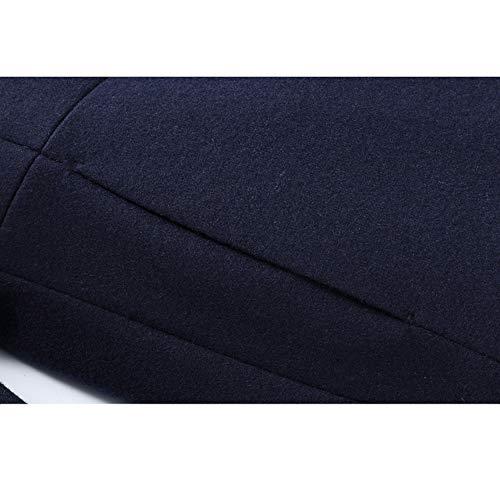 Della Uomini Collare Manicotto Di Rosse Di Del Giacche Lungo Degli Antivento Rivestimento Tuta Molle Trench Lana Sportiva Medio Basamento Monopetto Soprabito Affari Del xYPXnBET