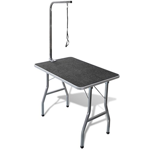 Daonanba Portable Pet Dog Grooming Table with Castors Professional Grooming Table
